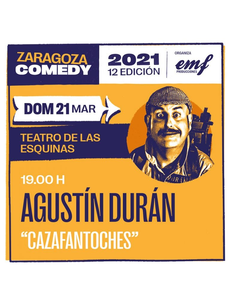 Cartel Agustín Durán Zaragoza Comedy
