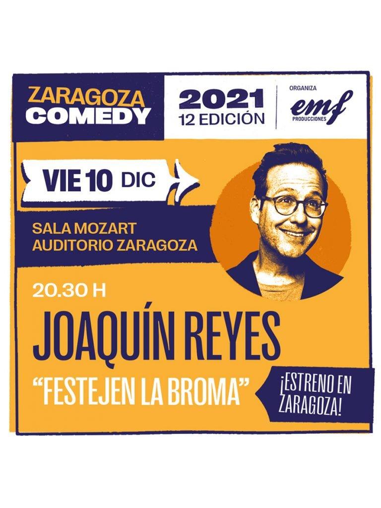 Cartel Festejen la broma, Zaragoza Comedy