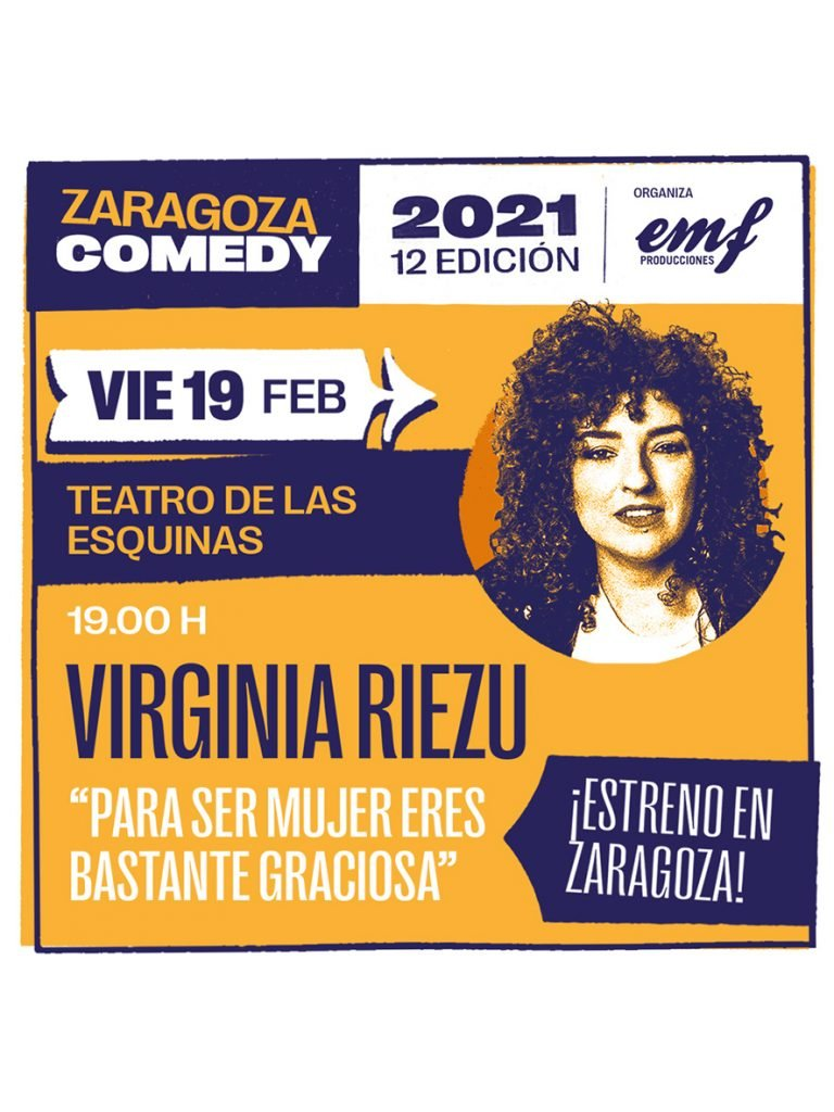 Cartel Virginia Riezu Zaragoza Comedy